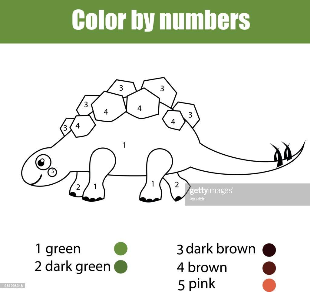 Dinosaurios Para Colorear Con Colores Dibujos De Dinosaurios Para ...