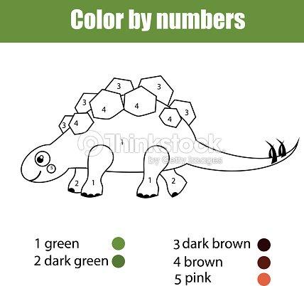 Página Para Colorear Con Stegosaurus Dinosaurio Juego De Niños ...