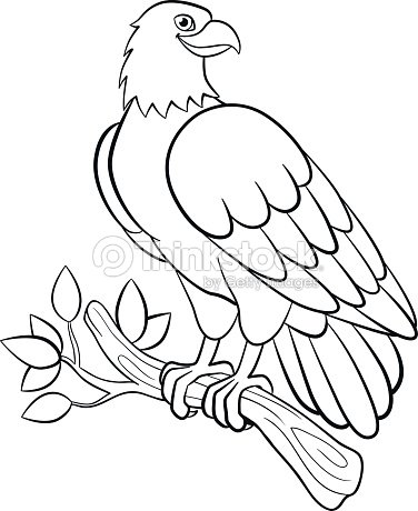 Coloring Pages Wild Birds Cute Smiling Eagle