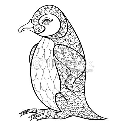Coloring Pages With King Penguin Vector Art