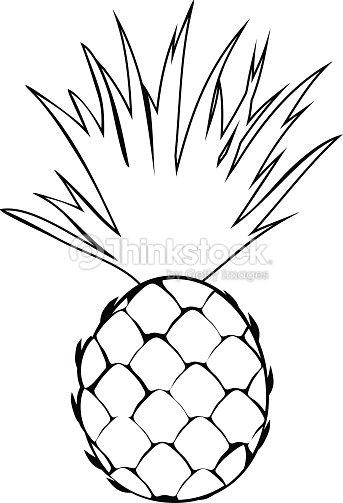 Da Colorare Con Ananas Arte Vettoriale Thinkstock