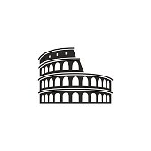 This is a vector illustration of Colosseum in Rome