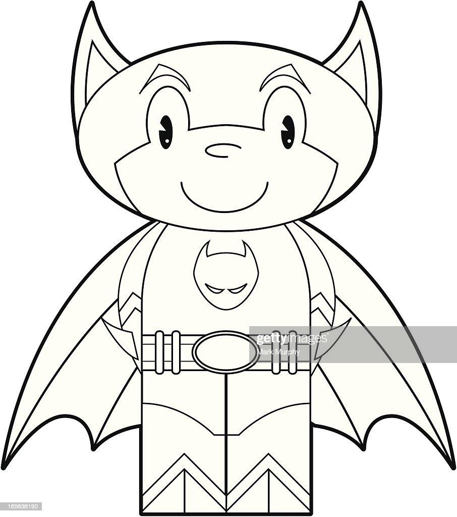 Colour In Cat Boy Superhero Vector Art Getty Images