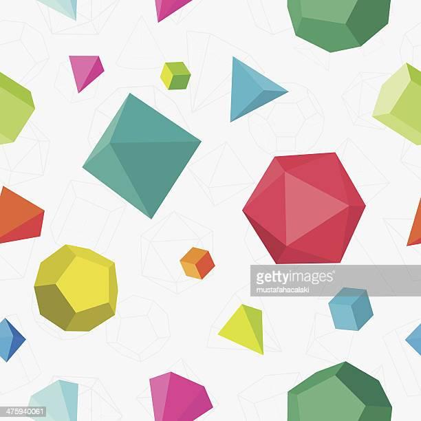 Bunte 3D Nahtlose Muster, einfarbig