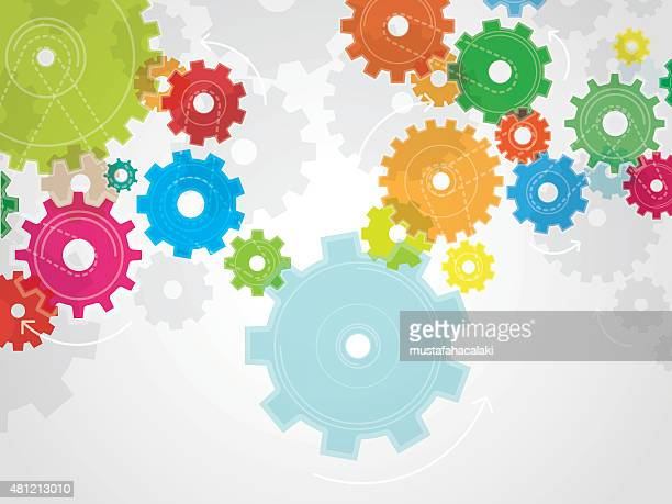 Colourful gears background
