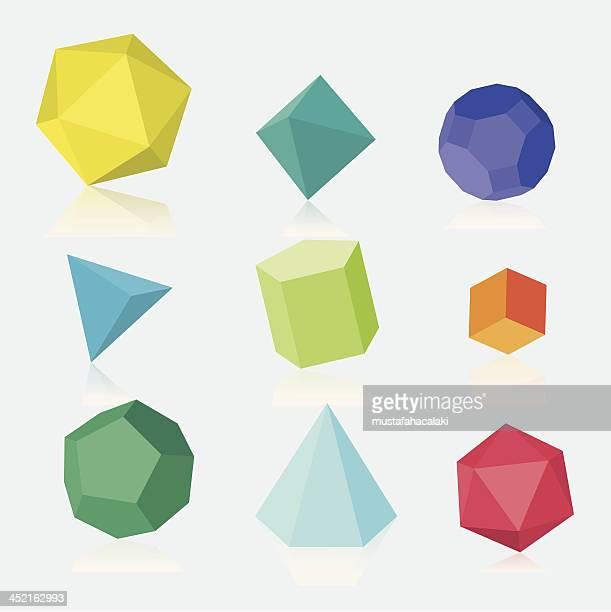 Bunte drei dimensionale einfarbig