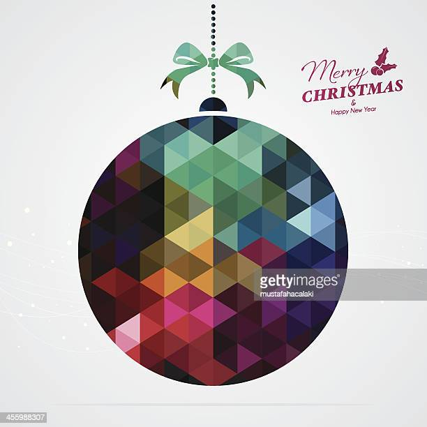 Colourful Xmas ball with text