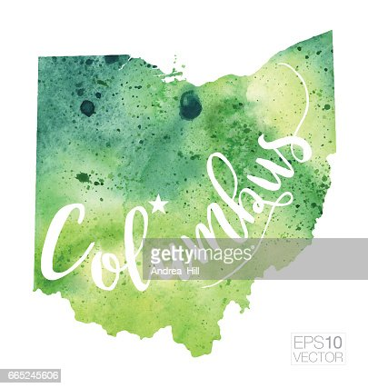 Ohio State Map Vector Art Getty Images - Ohio in usa map