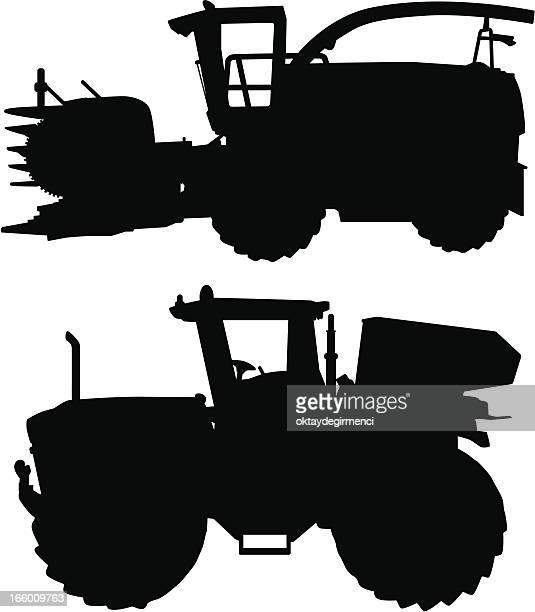 Illustrations et dessins anim s de machine agricole getty images - Dessin moissonneuse ...