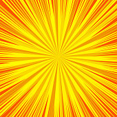 Comic book blank sunny orange background with radial and rays humor effects. Vector illustration