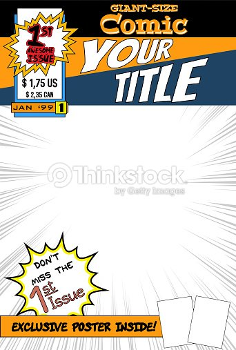 Comic Book Cover Tutorial Illustrator : Comic book cover vector art thinkstock