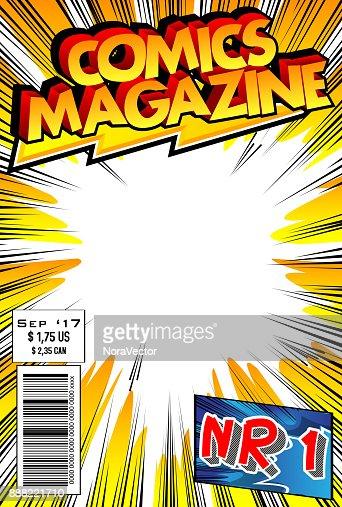 コミック本の表紙 : ベクトルアート