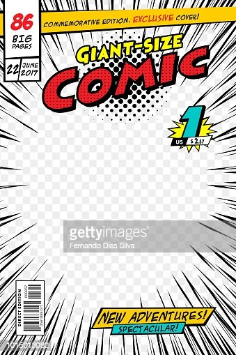 Comic book cover. Vector illustration style cartoon. : stock vector