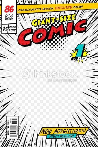 コミック本の表紙。ベクトル図のスタイルの漫画。 : ベクトルアート