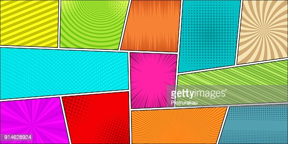Comic book horizontal bright background : Arte vetorial