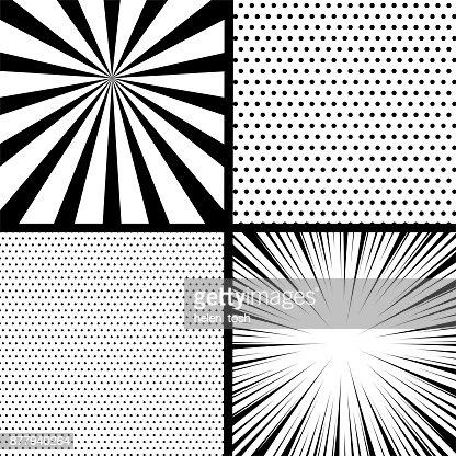 Comic book pop art monochrome mock up : stock vector