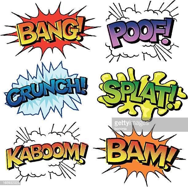 Comic Book Sound Effects Icon Set