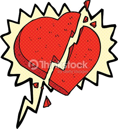 Comic Book Speech Bubble Cartoon Broken Heart Symbol Vector Art