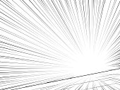 Comic book speed lines. Abstract background. Vector