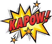 Kapow Word Comic Book Effect