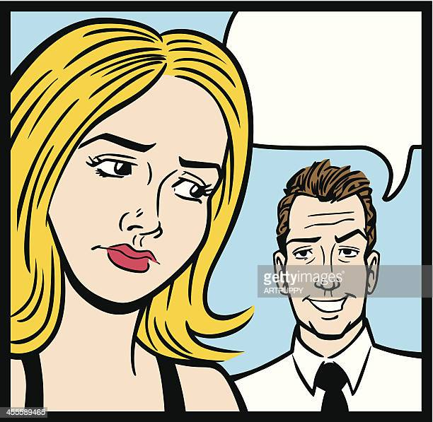 Comic Books Style Couple