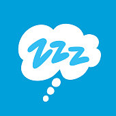 Comic bubble Zzz. Sleeping vector icon. Vector hand drawn illustration.