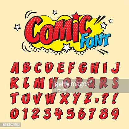 comic font_red : Arte vetorial
