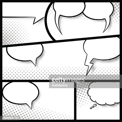 comic frames as background vector art