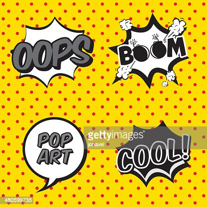 comic icons : Vector Art