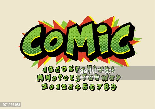 Comical alphabet : arte vetorial