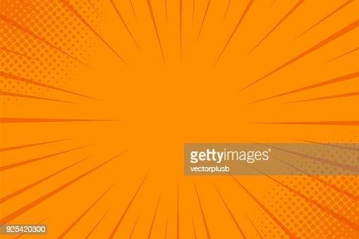 ハーフトーンでコミック光線背景。ベクトル夏背景イラスト : ベクトルアート