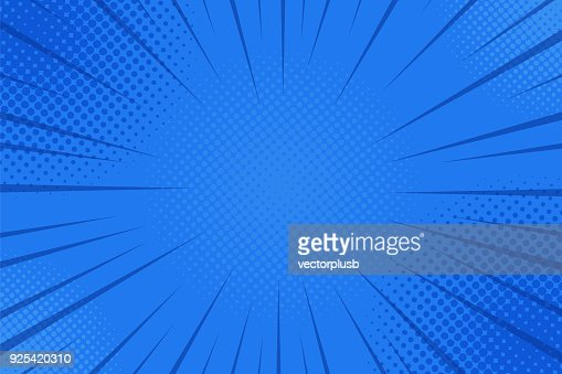 Comics rays background with halftones. Vector summer backdrop illustrations : Vector Art