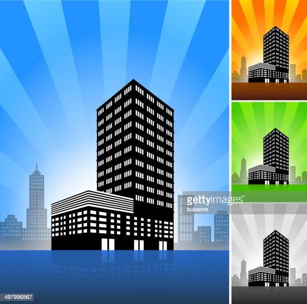 Kommerzielle Gebäude Farbe Set