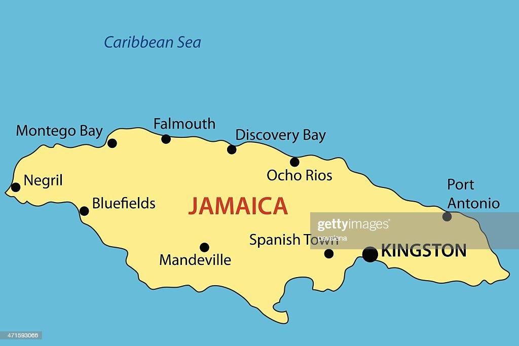 Commonwealth Of Jamaica Vector Map Vector Art Thinkstock