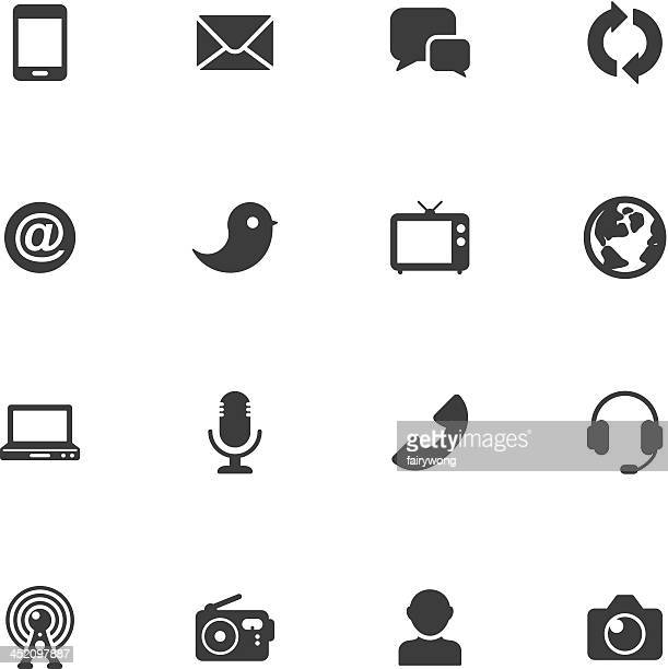 communication and media icons