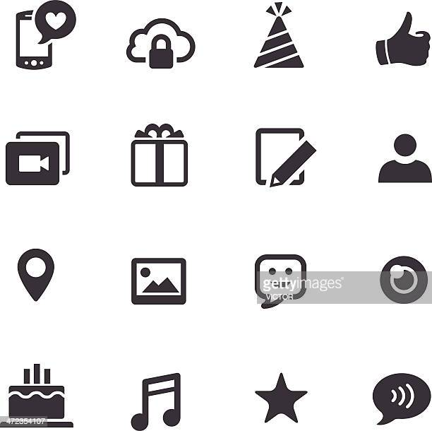 Communication and Social Media Icons - Acme Series