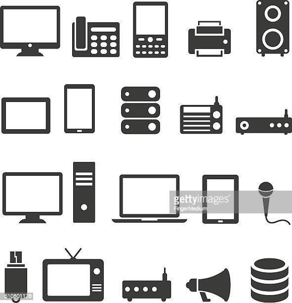 Communication device icons