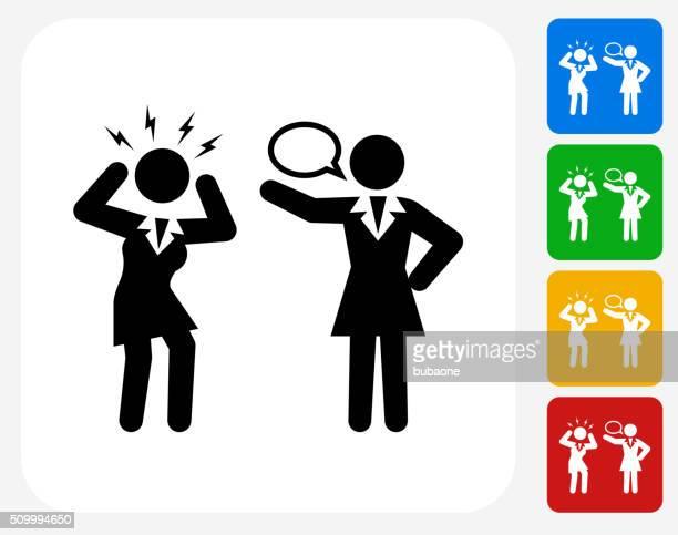 Communication Icon Flat Graphic Design