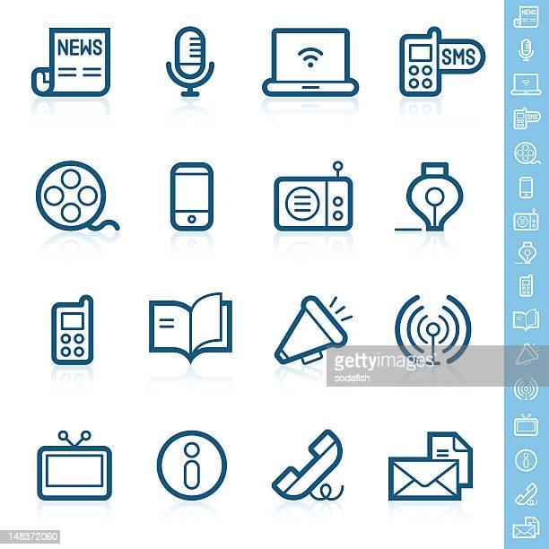 Communication icons | Contour series