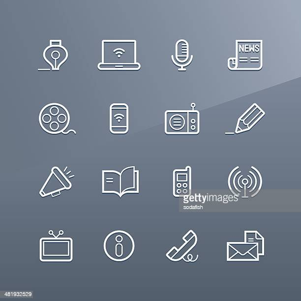 Communication icons - Linea series