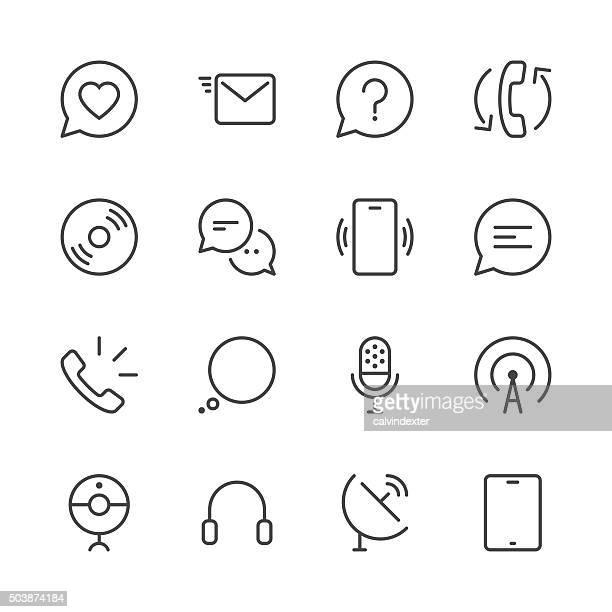 Icônes de Communication série 2-série Black Line