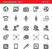 Professional, pixel perfect icons depicting various communication and social media concepts.
