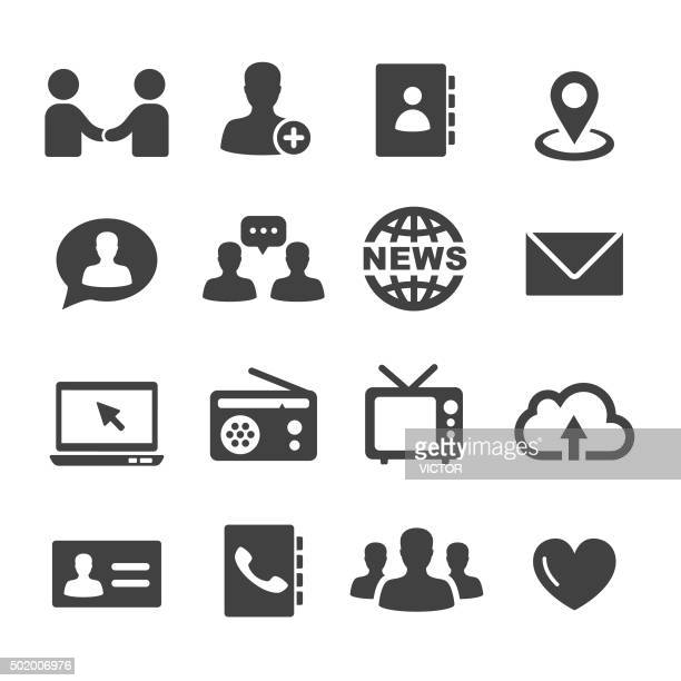Communication Icons Set-Serie Acme