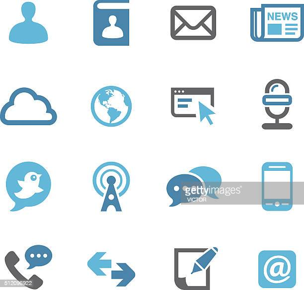 Communication Icons Set - Conc Series