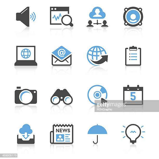 Communication & Internet Icon Set | Concise Series