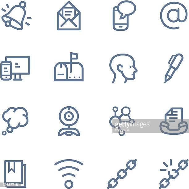 Communication Line icons