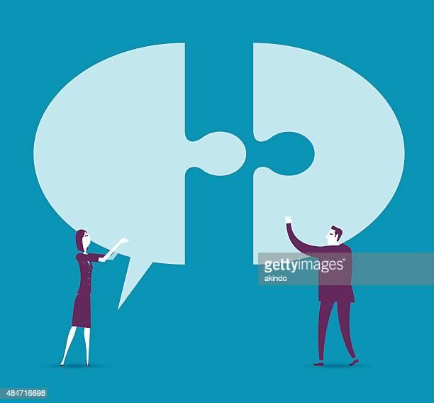 Kommunikation mit Sprechblase