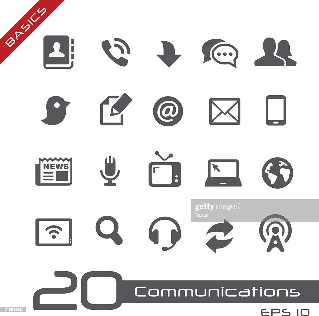 Communications Icon Set - Basics