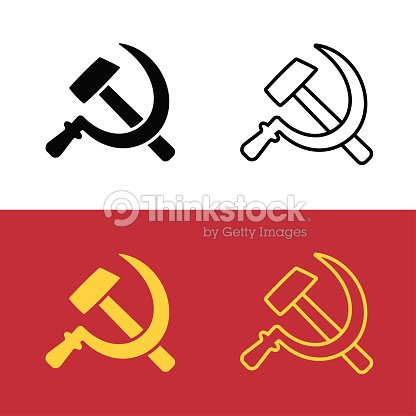 Communist Hammer And Sickle Symbol Vector Art Thinkstock