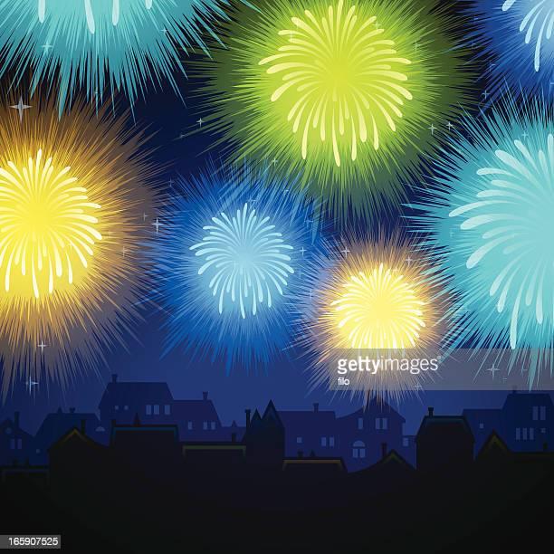 Community das Feuerwerk